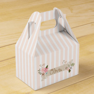 Stripes and flowers wedding favour boxes