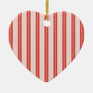 Stripes and hearts christmas tree ornaments