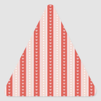 Stripes and hearts triangle stickers