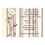 Stripes And Paisley Baby Shower Invitation (AA)