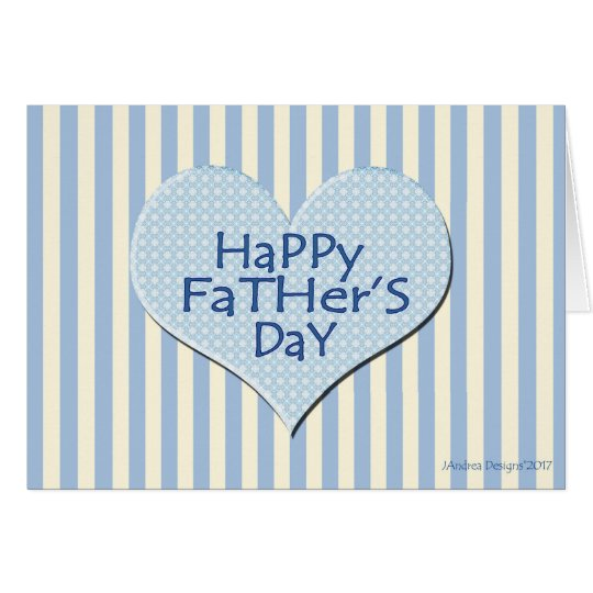 Stripes and Polka Dot  Heart Father's Day Card