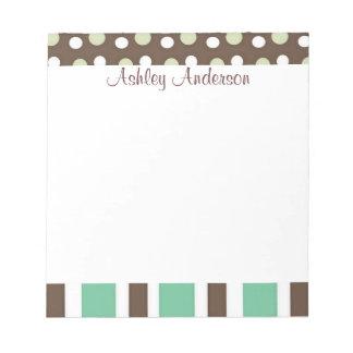 Stripes and Polka Dots Personal Notepad