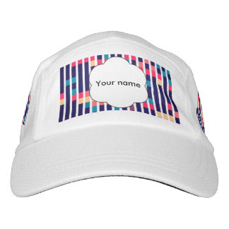Stripes and rectangles pattern hat
