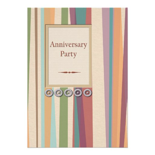 Stripes and Rivets Anniversary Party Personalized Invitations