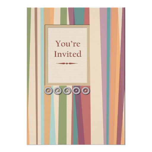Stripes and Rivets  Invitation