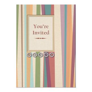 Stripes and Rivets  Invitation