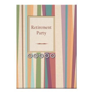 Stripes and Rivets Retirement Invitations