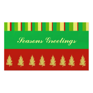 Stripes and Trees Gift Tag Business Cards