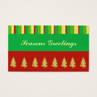 Stripes and Trees Gift Tag Business Card
