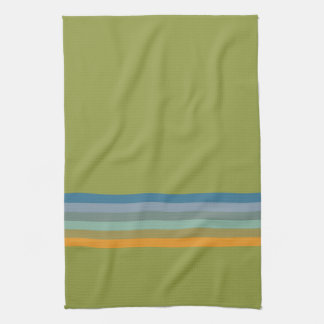 Stripes Apple Yellow Blue Violet Olive Green Aqua Tea Towel