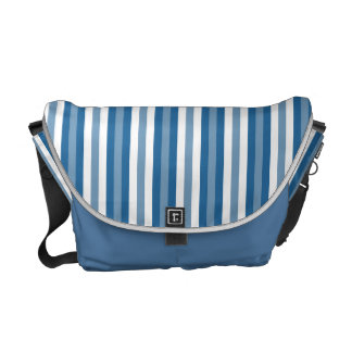 Stripes Background Blue and White Courier Bag