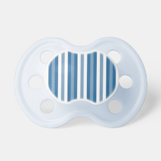 Stripes Background Blue and White Baby Pacifiers