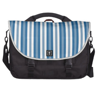 Stripes Background Blue and White Laptop Commuter Bag