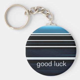 stripes basic round button key ring