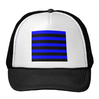 Stripes - Black and Blue Trucker Hats
