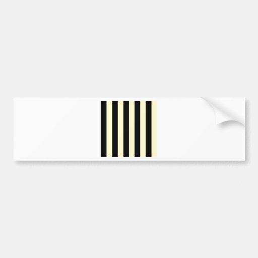 Stripes - Black and Cream Bumper Stickers