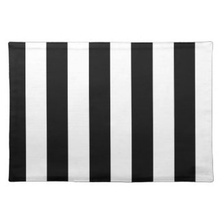 Stripes - Black and Cream Placemat