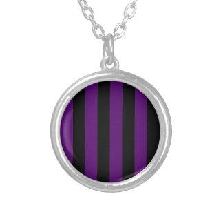 Stripes - Black and Dark Violet Pendants