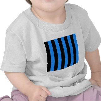 Stripes - Black and Dodger Blue Tee Shirts