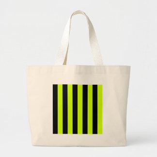 Stripes - Black and Fluorescent Yellow Tote Bag