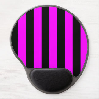 Stripes - Black and Fuchsia Gel Mouse Mats
