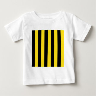 Stripes - Black and Golden Yellow Baby T-Shirt