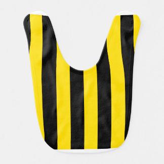 Stripes - Black and Golden Yellow Bib
