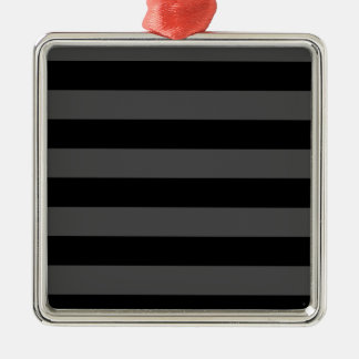 Stripes - Black and Gray Christmas Ornament