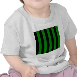 Stripes - Black and Green Tee Shirts