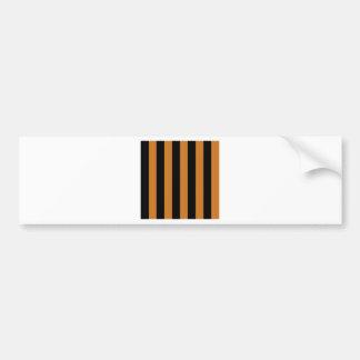 Stripes - Black and Ochre Bumper Sticker