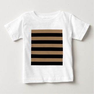 Stripes - Black and Pale Brown T-shirts