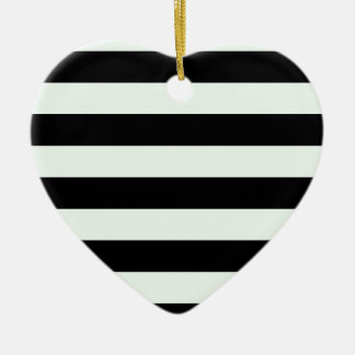 Stripes - Black and Pastel Green Christmas Tree Ornament