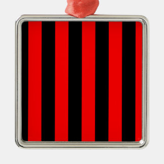 Stripes - Black and Red Ornament