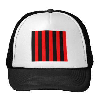Stripes - Black and Red Trucker Hat