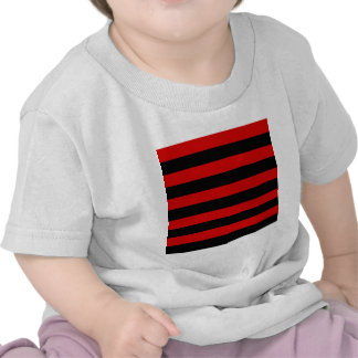 Stripes - Black and Rosso Corsa T-shirts