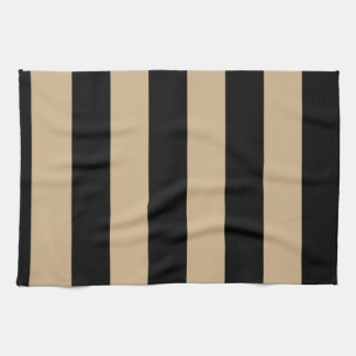 Stripes - Black and Tan Towels
