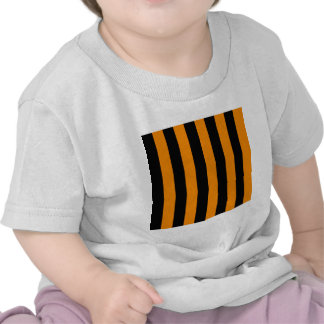 Stripes - Black and Tangerine T-shirts
