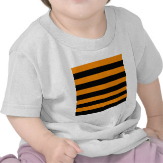 Stripes - Black and Tangerine T Shirts