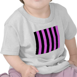 Stripes - Black and Ultra Pink Tee Shirts