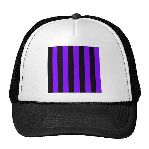 Stripes - Black and Violet Mesh Hats