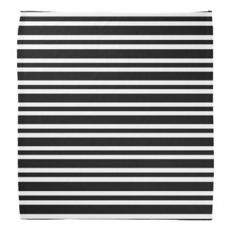 Stripes Black and White Thick and Thin Bandanna