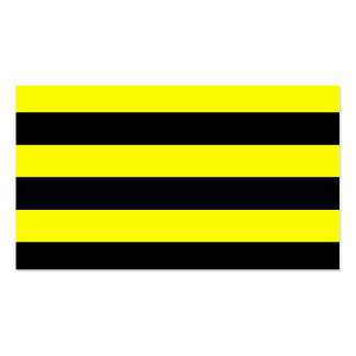 Stripes - Black and Yellow Business Card