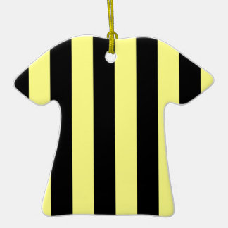 Stripes - Black and Yellow Christmas Ornaments