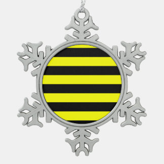 Stripes - Black and Yellow Ornament