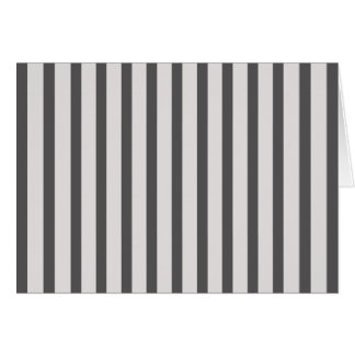 Stripes Black & White Card