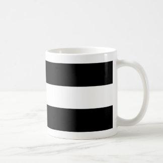 Stripes- Black& White Basic White Mug