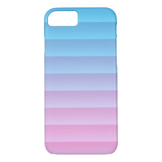 Stripes - Blue / Turquoise Rose Color Gradient iPhone 8/7 Case
