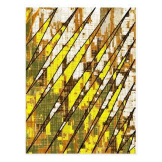 Stripes- Brown/ yellow/white Postcard