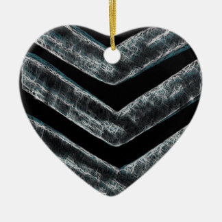 Stripes Ceramic Heart Decoration
