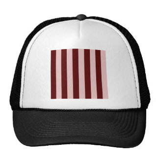 Stripes - Dark Red and Pink Mesh Hat